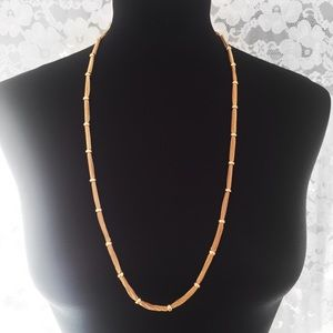 BCBGMAXAZRIA BCBG Necklace Gold Toned Chain Beaded